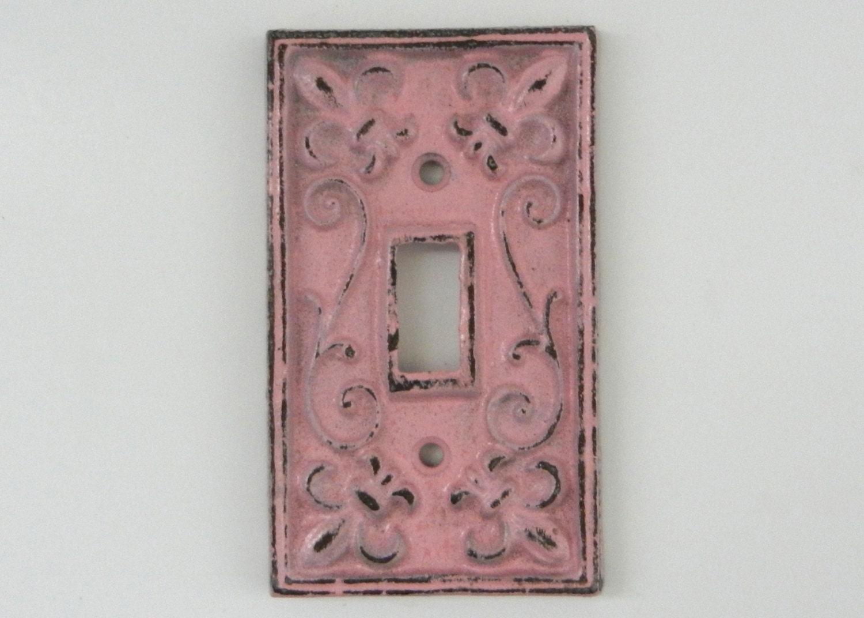 Pink Light Switch Cover Fleur De Lis Switch By Juxtapositionsc