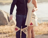 Save the date banner - Engagement banner  - Save the Date sign - Burlap Banner - engagement photos - Shabby chic -Photography prop