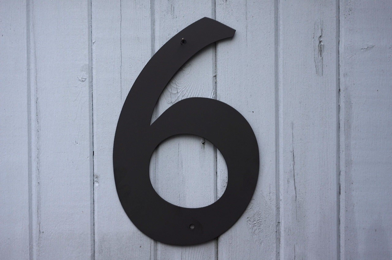 large black modern house numbers – Modern House - ^