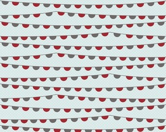 Banner Blue Remember by Carina Gardner , Fat Quarter Cut, Riley Blake Designs