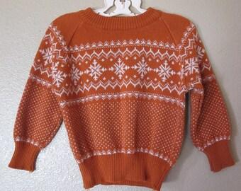Vintage 1980's Ski Sweater Children's Size 2T