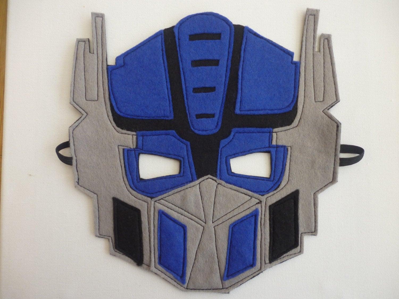 Optimus Prime Transformers Felt Mask Fancy By Mummyhughesy