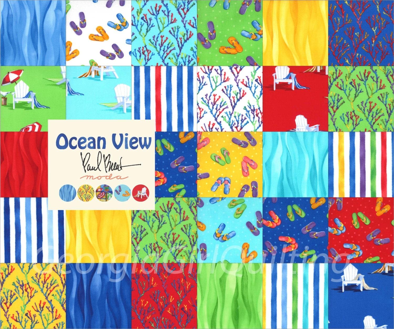 Ocean View Layer Cake Moda Fabrics Quilt Fabric 42 10