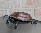 Speedy the Box Turtle, Recycled Metal Art Sculpture