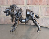 Leo The Lion, Recycled Metal Sculpture