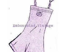Plus Size (or any size) 1934 Vintage Underwear Lingerie Sewing Pattern Culotte Slip - PDF - Pattern No 5 Fern