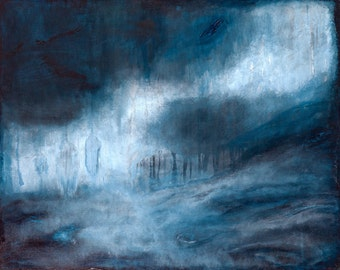 "DISCOUNTED FIRST EDITION giclee print16""x20"" ""Beautiful Mourning"" Abstract Landscape Painting"