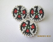 American Indian style bead and leather pin