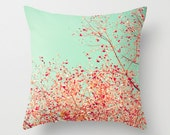 Love pillow,  Pillow cover, coral pillow, pink pillow, turquoise pillow, bathroom decor, dorm decor, french decor, girl nursery decor~