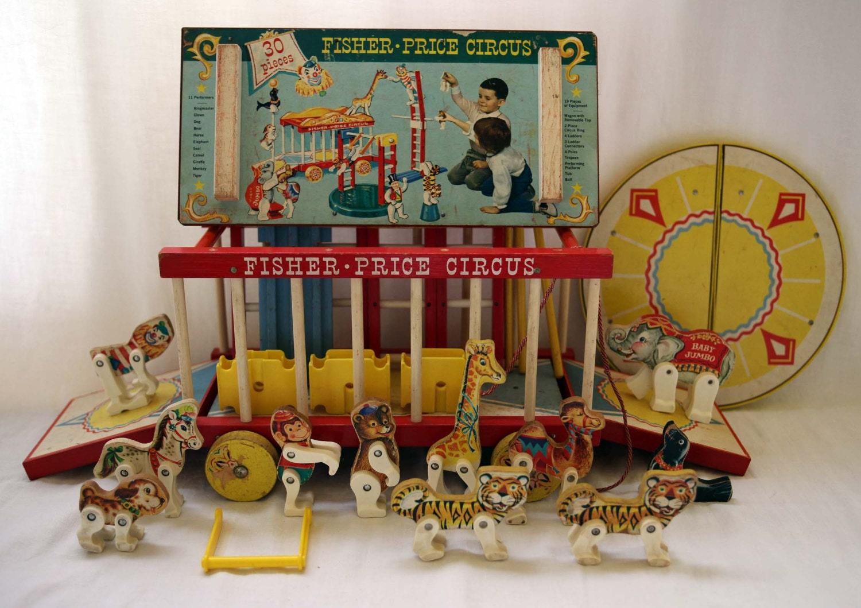 Fisher Price Circus Wagon Vintage 1962 Set No. 900 12