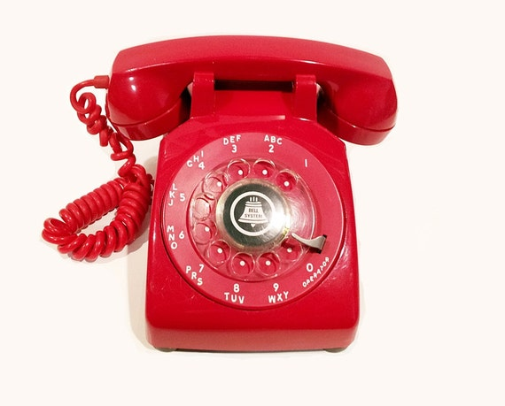 Red Rotary Phone Telephone
