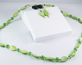 2 Piece Jewelry Set in Lime Green