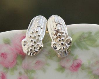 Spoon Earrings Antique Stud Silverware Earrings VINTAGE 1904 Silverware Jewelry Spoon STUD Earrings STERLING Silver Earwires