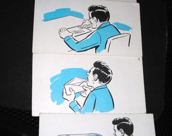 Early Animation.....Flip cards....Stop Action Animation.....Mailing A Letter.....Ephemera