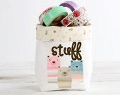 Mini Fabric Basket, Storage Organizer Bin, Washi Tape, Eraser Bin
