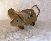 Primitive Mouse Pull Toy Pattern - 402, HAFAIR