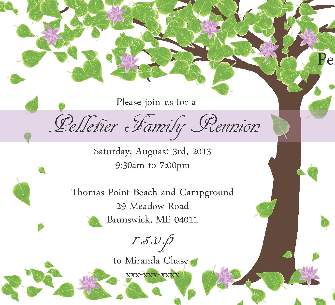 Family Reunion Invitation – Reunion Party Invitations