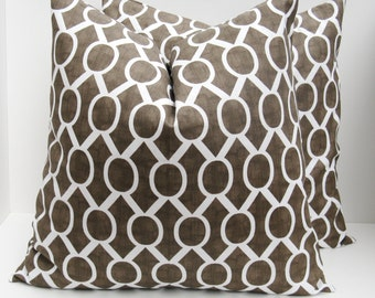 Decorative Throw Pillows 20 x 20 Pillow Cover Throw Pillow Pillow Covers Brown Pillow Housewares  Accent Pillow Home Decor Cushion Covers