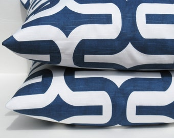 Throw Pillow Covers 20x20 Navy Pillow Cover Decorative Throw Pillow Covers Accent Pillow Decorative Pillows Cushion Covers Set of TWO