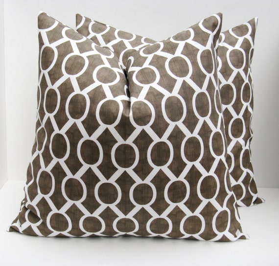 Brown Throw Pillows Etsy : Items similar to PILLOWS,Decorative Pillow covers, 20 x 20 Pillow Cover Throw Pillow Pillow ...