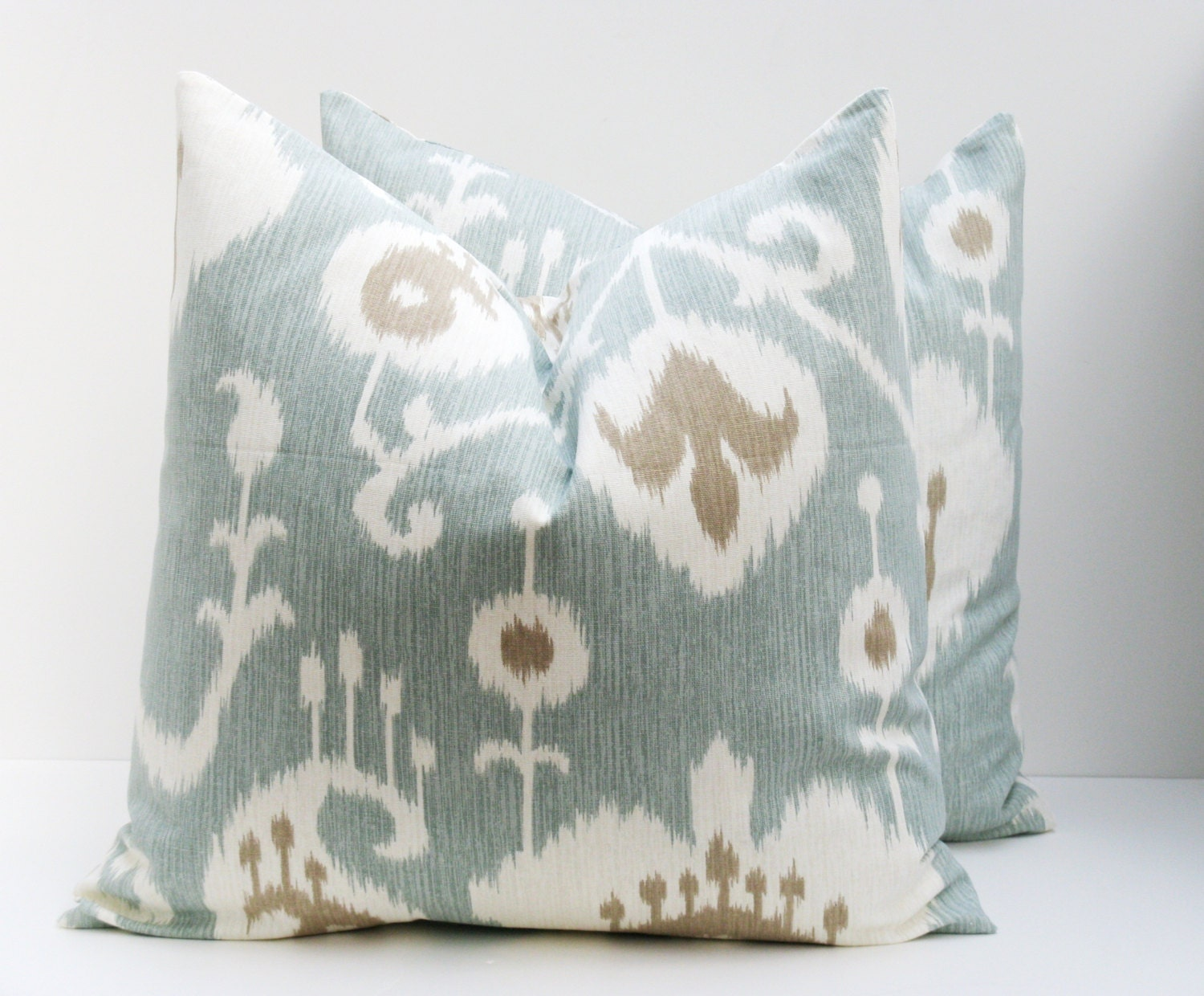 PILLOWSDecorative pillow covers Blue Pillow Ikat by EastAndNest