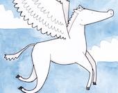 Pegasus - Original drawing/painting