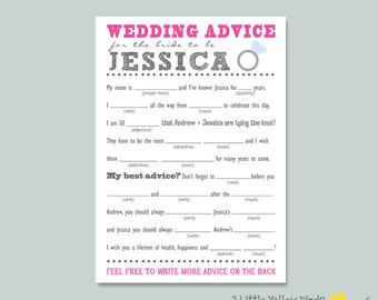 Bride-To-Be Advice Card - MAD LIBS