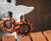 Paper earrings - Eco friendly - Brown and orange