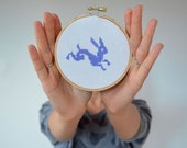 Easter Bunny Embroidery Hoop Art - greenaccordion