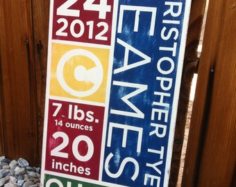 12x24 hand painted kids sign