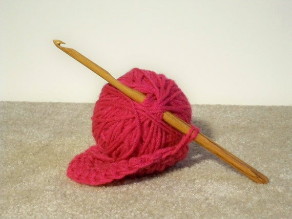 Handmade Guatemalan Rosewood Exotic Crochet hook size K