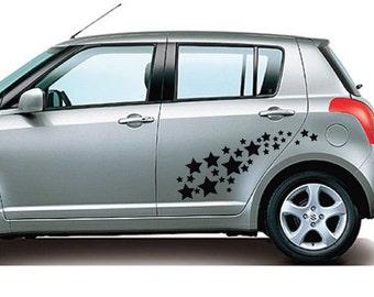 StickTak Stickers Stars Car / Window / Wall Vinyl Stickers Bumper Decal 30pcs