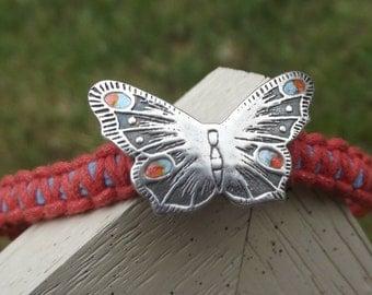 Peacock butterfly friendship bracelet