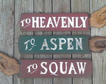 SKI SIGN Personalized, hand carved wood sign
