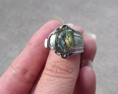 silverware ring fused glass