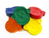Monkey crayons, set of 6, birthday gift, barrel of monkeys