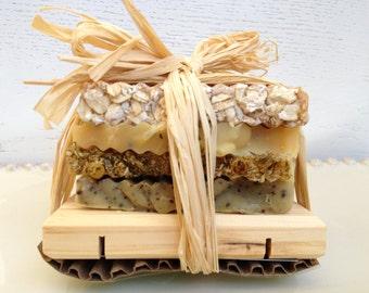 Soap Sampler Gift Set -  Cold Process Scented Soap Sampler Variety Stack of Handmade Soap - travel soap - Christmas Soap Sampler