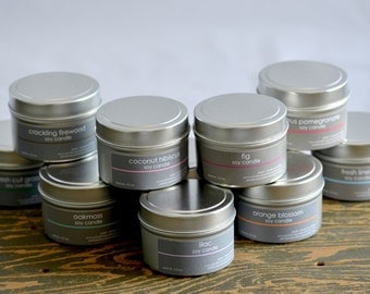 Soy Candle Tins - Wholesale Soy Candles - Wedding Candle Favors - Candle Party Favors - qty: 40