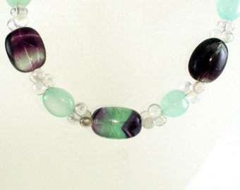 Rainbows and Rain-Gemstone-Necklace