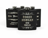 Personalized Groomsmen Gifts, Best Man Gift, Stainless Steel Flask, Wedding Party gifts, Gifts for Groomsmen, Set of 4 Engraved Flasks