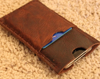 Handcrafted in USA: Leather Blackberry Z30 case with pocket slipcover sleeve wallet Minimalist Top Grain Genuine Leather