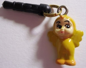 Xtra Rare Teddy Bear Angel Earphone plug. Handmade