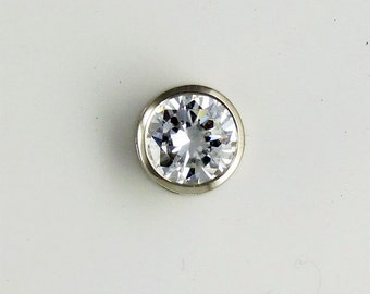 P04155 14K solid gold Bezel Set 0.5ct to 3.0ct CZ slider pendant