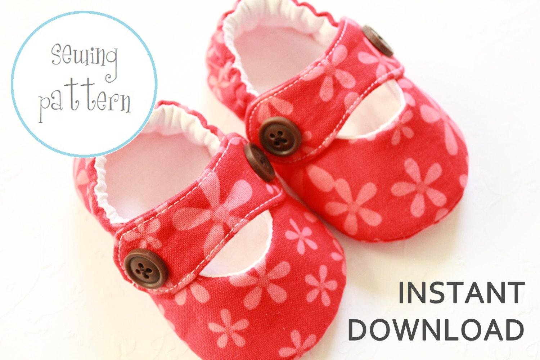 Baby Shoe Free Sewing Pattern