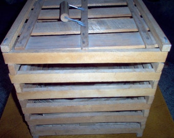 Vintage Egg Crate - Wood Egg Crate - Primitive Farm House Decor - Egg Crate - Rustic Farmhouse