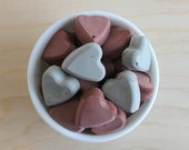 cement vase filler // heart vase filler // cement hearts // concrete vase filler // cement bowl filler // cement centerpiece // red and grey