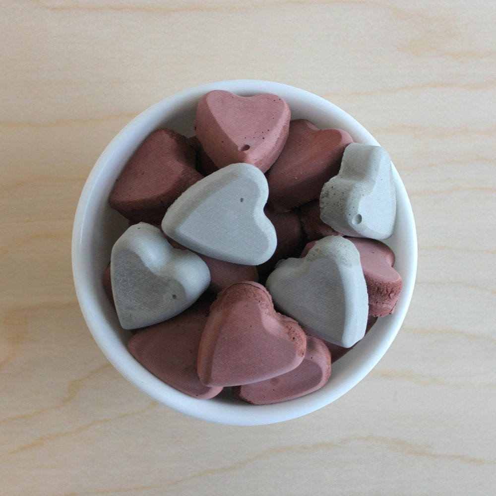 cement vase filler // heart vase filler // cement by ...