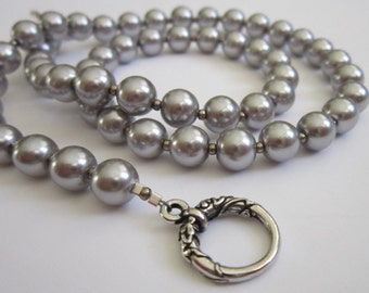 Silver Pearls - Mother of the Bride, Bridesmaid,  Dressy, Wedding, For Her, Gift for Her, Birthday, Anniversary