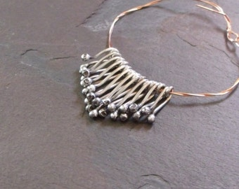 set of (12) - Graduated Rustic Sterling Silver Droplet Fringe 18ga - MADE TO ORDER