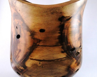 Wood Vase No.130314 - Natural Edge Carboncillo Wood